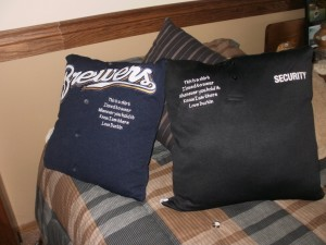 Dustin t-shirt pillows
