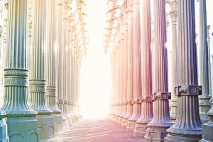pillars of light