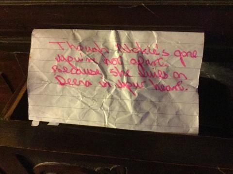 Deena's note from John